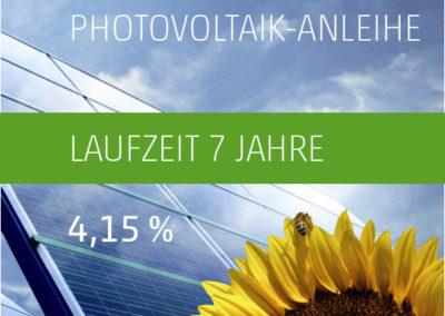 Die PV-Invest Photovoltaik-Anleihe a) 4,15 % p.a. 2017-2024