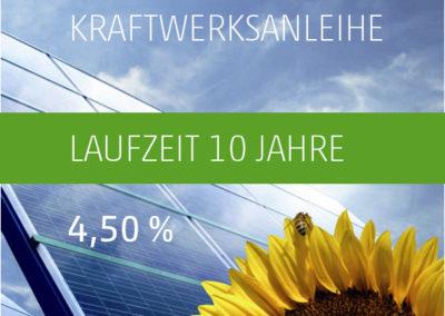 Die PV-Invest Kraftwerksanleihe b) 4,50 % p.a. 2019-2029