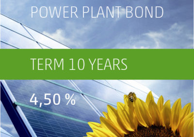 The PV-Invest Power Plant Bond b) 4,50% p.a. 2019-2029