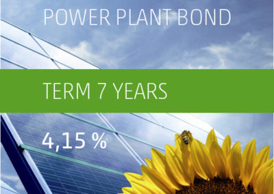 The PV-Invest Power Plant Bond a) 4,15% p.a. 2019-2026